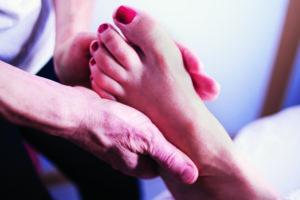 Massage à l'huile - pied