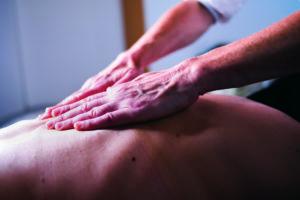 Massage à l'huile - dos