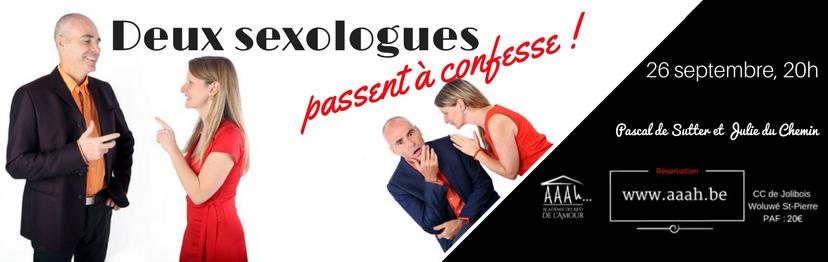 Spectacle : 2 sexologues passent à confesse (concours)