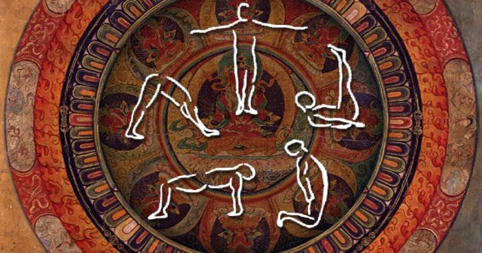 tibetans mandala pour le yoga-stretch
