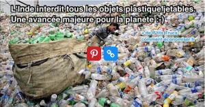 L'Inde interdit les plastiques jetables
