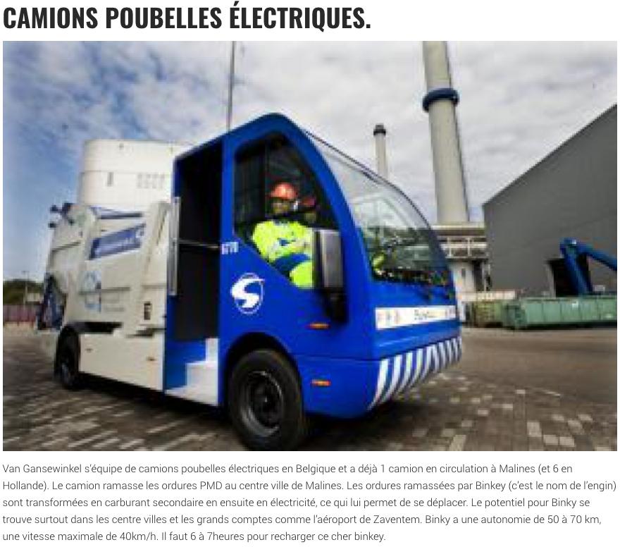 Camions-poubelles électriques