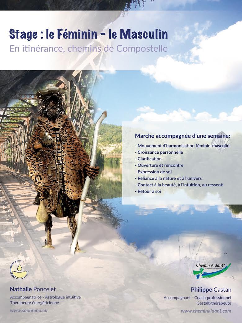 STAGE EN ITINÉRANCE : LE FÉMININ-LE MASCULIN @ Chemin de Compostelle